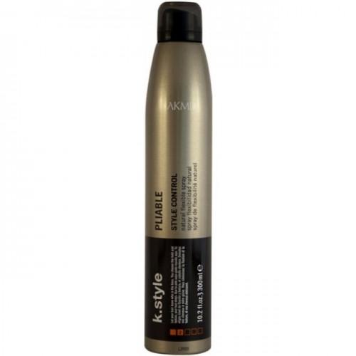 Lakme Спрей для волос эластичной фиксации Pliable Natural Flexible Spray, 300 мл46333Спрей для волос эластичной фиксации Lakme K Style Pliable Естественная фиксация. Возможность легко изменить форму прически. Не оставляет налета на волосах. Легко счесывается. Обладает антистатическими свойствами. Устойчив к влажности. Древесно - травяной аромат. Степень фиксации - 2