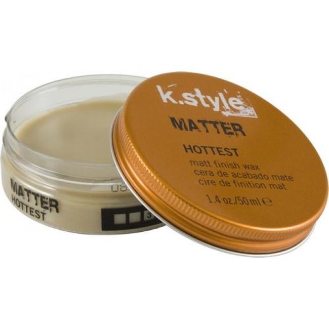 Lakme Воск для укладки волос с матовым эффектом Matter Matt Finish Wax, 50 мл46521Воск для укладки волос с матовым эффектом Lakme K Style Matter Подчеркивает текстуру стрижки. Придает волосам матовый эффект. Обеспечивает эластичную фиксацию. Содержит УФ - фильтр. Древесный аромат на основе кедра и сандалового дерева. Степень фиксации - 3