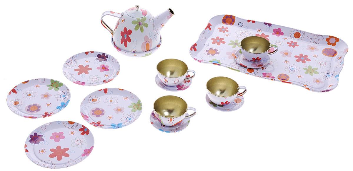 ABtoys Игрушечный набор посуды для чаепитияPT-00257Игрушечный набор посуды для чаепития ABtoys включает в себя 14 предметов. Он рассчитан на четыре персоны. Такой набор понравится любой малышке. Ведь теперь она сможет устроить большое чаепитие для своих любимых игрушек. К тому же, благодаря набору, малышка научится правильно сервировать стол. Набор выполнен из прочного и безопасного материала, который даже если упадет на пол, не разобьется и не поломается, а значит, вам не нужно тревожиться о безопасности ребенка.