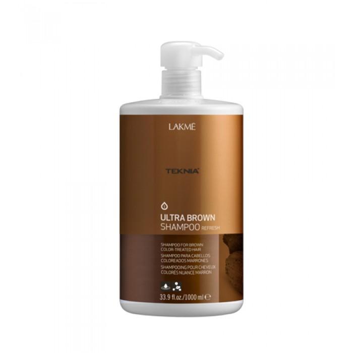 Lakme Шампунь для поддержания оттенка окрашенных волос Коричневый Shampoo, 1000 мл47021Специально разработанная формула с экстрактом какао и вытяжкой семян индийской акации, которые обладают влагоудерживающими свойствами, мягко очищает волосы. Образует защитную пленку, которая предотвращает потерю цвета. Возвращает волосам мягкость, блеск и богатство оттенков. Содержит WAA™ – комплекс растительных аминокислот, ухаживающий за волосами и оказывающий глубокое воздействие изнутри.