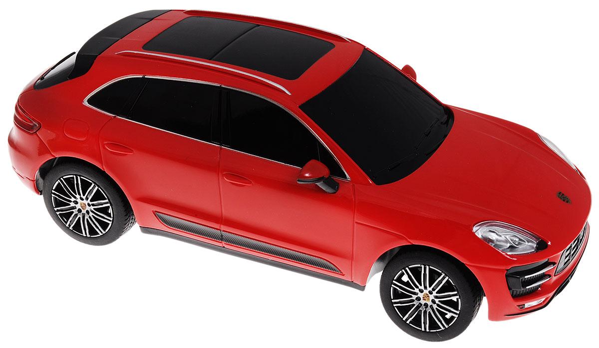 Rastar Радиоуправляемая модель Porsche Macan Turbo71800Радиоуправляемая модель Rastar Porsche Macan Turbo является точной копией настоящего автомобиля в масштабе 1/24. Управление автомобилем происходит с помощью удобного пульта. Машина двигается вперед и назад, поворачивает направо, налево и останавливается. Колеса игрушки прорезинены и обеспечивают плавный ход, машинка не портит напольное покрытие. Пульт управления работает на частоте 27 MHz. Радиоуправляемые игрушки способствуют развитию координации движений, моторики и ловкости. Ваш ребенок часами будет играть с моделью, придумывая различные истории и устраивая соревнования. Порадуйте его таким замечательным подарком! Машина работает от 3 батареек напряжением 1,5V типа АА (не входят в комплект). Пульт управления работает от 2 батареек напряжением 1,5V типа АА (не входят в комплект).