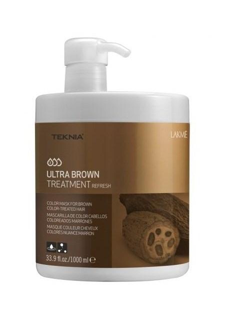 Lakme Средство для поддержания оттенка окрашенных волос Коричневый Treatment, 1000 мл47051Благодаря входящим в состав экстракту какао и керамидному комплексу средство восстанавливает волокно волоса изнутри и защищает волосы , окрашенные в коричневые оттенки, от потери цвета, насыщает их блеском и продлевает интенсивность оттенков. Масло кокоса очищает и смягчает волосы, защищает кутикулы от химического воздействия. Витамин А и масло монои таитянской защищают волосы от внешнего воздействия, увлажняют и восстанавливают все типы волос, делая их блестящими и шелковистыми. Средство для поддержания оттенка окрашенных волос «Коричневый» Lakme Teknia Ultra Brown Treatment содержит WAA™ – комплекс растительных аминокислот, ухаживающий за волосами и оказывающий глубокое воздействие изнутри.