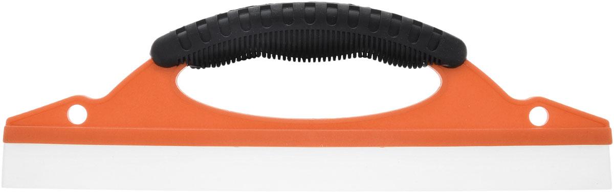 Сгон для воды Kioki, цвет: оранжевый, черный, прозрачный, 30 смCL401_оранжевыйСгон Kioki позволит вам без труда удалить воду и загрязнение с ровных поверхностей. Не оставляет разводов и царапин. Рабочая поверхность изделия выполнена из высококачественного силикона. Сгон оснащен прорезиненной ручкой, что создает дополнительное удобство при использовании. Корпус выполнен из прочного полипропилена. Длина рабочей части: 30 см. Ширина рабочей части: 2,1 см.