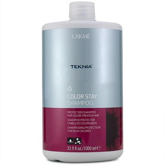 Lakme Шампунь для защиты цвета окрашенных волос Shampoo, 1000 мл47511Специальная pH формула восстанавливает поврежденный кутикулярный слой волос. Надолго сохраняет цвет окрашенных волос, замедляя потерю пигмента. Комбинация семян подсолнечника и УФ – фильтров действует в качестве защиты от внешних факторов. Шампунь для защиты цвета окрашенных волос Lakme Teknia Color Stay Shampoo содержит WAA™ – комплекс растительных аминокислот, ухаживающий за волосами и оказывающий глубокое воздействие изнутри. Стойкий результат надолго, богатый и насыщенный цвет. Блестящие, мягкие и эластичные волосы.