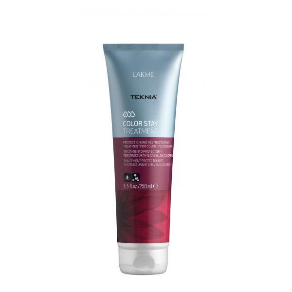 Lakme Средство, сохраняющее цвет и восстанавливающее структуру окрашенных волос Treatment, 250 мл47532Восстанавливает цвет окрашенных волос. Реструктурирует волосы, поврежденные в процессе осветления или окрашивания. Средство, сохраняющее цвет и восстанавливающее структуру окрашенных волос Lakme Teknia Color Stay Treatment содержит WAA™ – комплекс растительных аминокислот, ухаживающий за волосами и оказывающий глубокое воздействие изнутри. Выравнивает структуру окрашенных и осветленных волос, проявляет цвет.