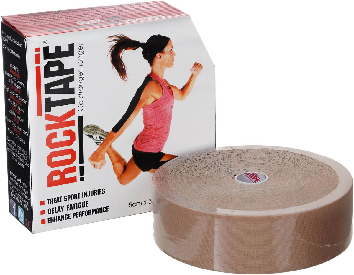 Кинезиотейп Rocktape Bulk, цвет: телесный, 5 см х 32 мRCT100-BG-LGКинезиотейп Rocktape Bulk, выполненный из хлопка и нейлона, предназначен для снятия отеков и рассасывания гематом. Уменьшает мышечную усталость и способствует притоку крови для более быстрого восстановления. Изделие имеет плотную волнообразную структуру ткани. Не содержит латекса и цинка, водостойкий.