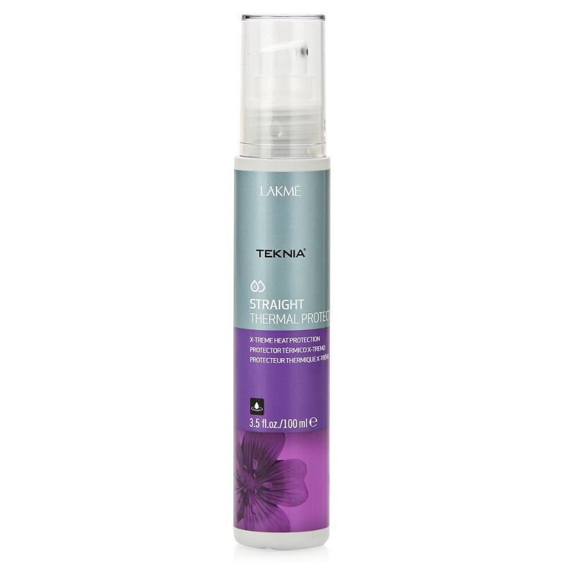 Lakme Cпрей для экстремальной термозащиты волос Thermal Protector, 300 мл47822Максимально защищает волосы от действия высоких температур при сушке феном или использовании щипцов. Облегчает расчесывание. Волосы остаются прямыми длительное время. Cпрей для экстремальной термозащиты волос Lakme Teknia Straight Thermal Protector содержит WAA комплекс растительных аминокислот, ухаживающий за волосами и оказывающий глубокое воздействие изнутри.