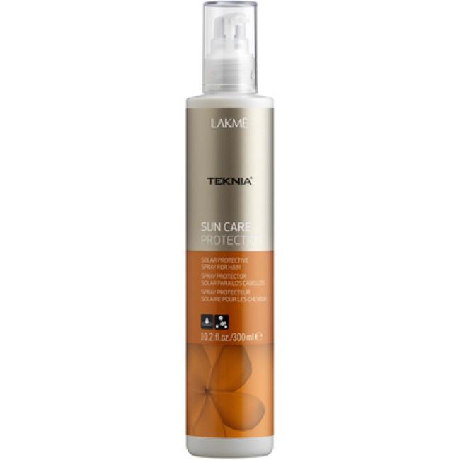 Lakme Спрей для волос солнцезащитный Protection Spray, 300 мл47922Обеспечивает мгновенную защиту волос от солнца, воздействия хлора и морской воды. Масла кокоса и монои таитянской увлажняют, питают и придают волосам мягкость и естественный блеск. Содержит WAA™ – комплекс растительных аминокислот, ухаживающий за волосами и оказывающий глубокое воздействие изнутри.