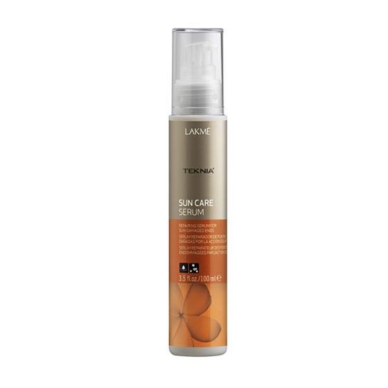 Lakme Сыворотка для восстановления поврежденных солнцем кончиков волос Serum, 100 мл47943Восстанавливает и разглаживает кончики волос, поврежденные агрессивным действием солнца. Благодаря маслу монои таитянской и витамину Е поврежденные кончики волос становятся блестящими и шелковистыми. Интенсивное воздействие. Сыворотка восстанавливающая для поврежденных солнцем кончиков волос Lakme Teknia Sun Care Serum содержит WAA™ – комплекс растительных аминокислот, ухаживающий за волосами и оказывающий глубокое воздействие изнутри.