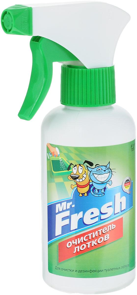Очиститель туалетных лотков Mr.Fresh, 200 мл52414Спрей-очиститель лотков Mr.Fresh предназначен для удаления мочевого камня и налета, дезинфекции, устранения неприятного запаха. Безвреден для здоровья животных и детей. Не содержит хлора, фтора и других химически агрессивных компонентов. Состав: Acid Super Organic, вода дистиллированная до 100%. Товар сертифицирован.