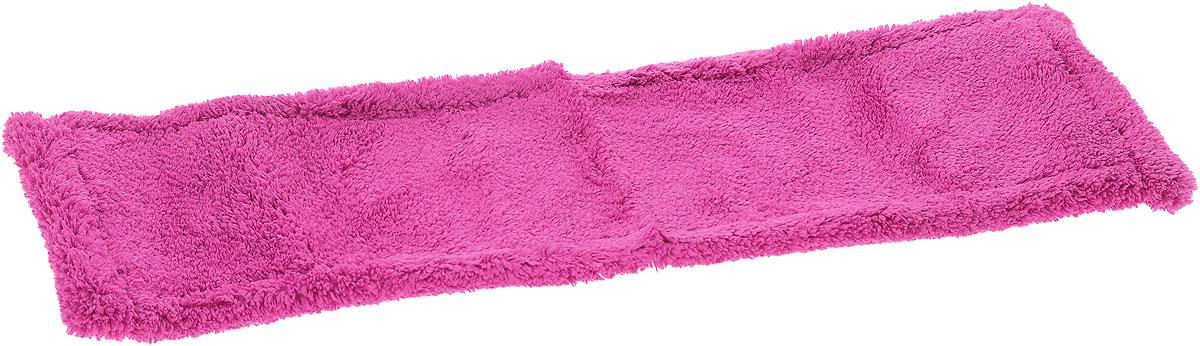 Насадка для швабры York Классик, сменная, цвет: малиновый. 81098109_малиновыйСменная насадка для швабры York Классик изготовлена из микрофибры (полиамид, полиэстер). Микрофибра обладает высокой износостойкостью, не царапает поверхности и отлично впитывает влагу. Насадка отлично удаляет большинство загрязнений. Насадка идеально подходит для мытья всех видов напольных покрытий. Она не оставляет разводов и ворсинок. Сменная насадка для швабры York Классик станет незаменимой в хозяйстве. Насадку можно стирать при температуре 40°С. Размер насадки: 40 х 14 х 1,5 см.