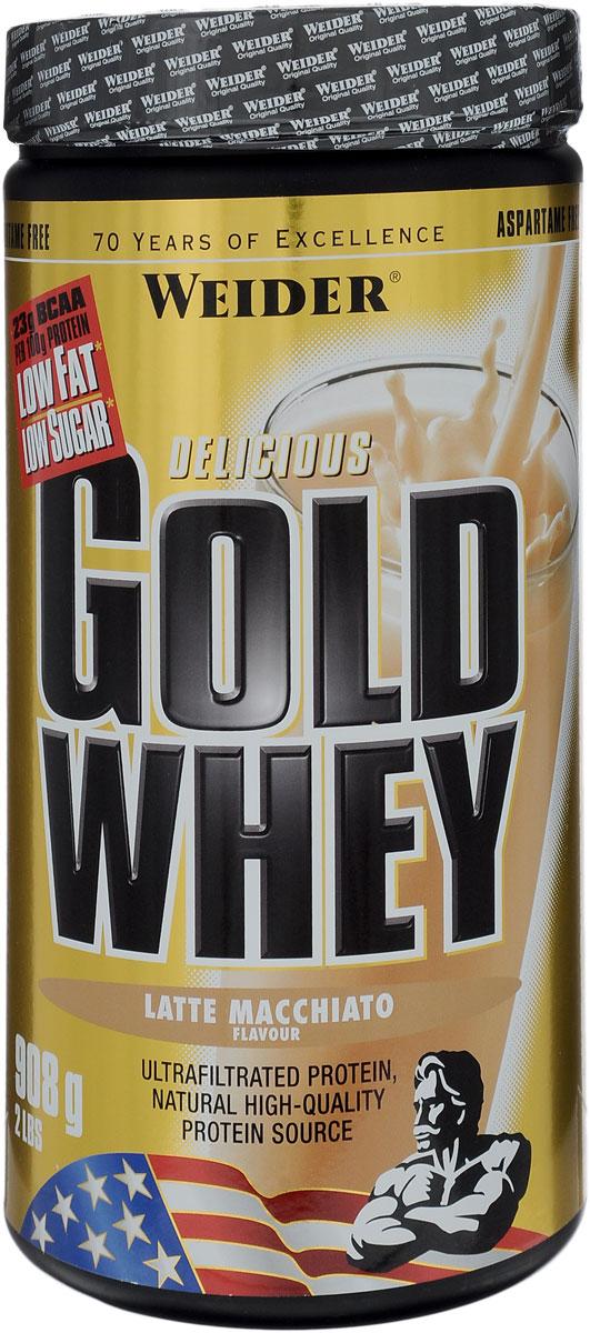 "Протеин сывороточный Weider ""Gold Whey"", латте макиато, 908 г"
