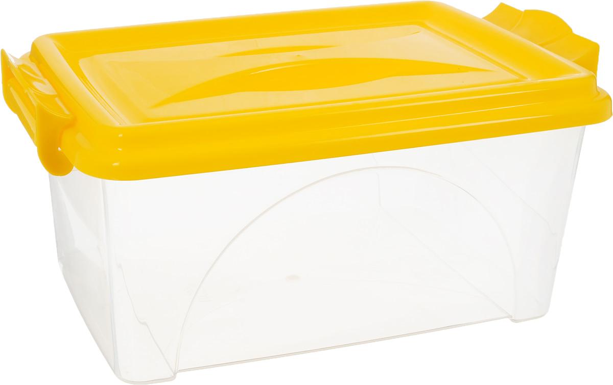 Контейнер Альтернатива, цвет: желтый, прозрачный, 4,5 лМ419_желтый, прозрачныйКонтейнер Альтернатива изготовлен из высококачественного пищевого пластика. Изделие оснащено крышкой и ручками, которые плотно закрывают контейнер. Емкость предназначена для хранения различных бытовых вещей и продуктов. Такой контейнер очень функционален и всегда пригодится на кухне. Размер контейнера (с учетом крышки и ручек): 31,5 х 20 х 13,5 см.