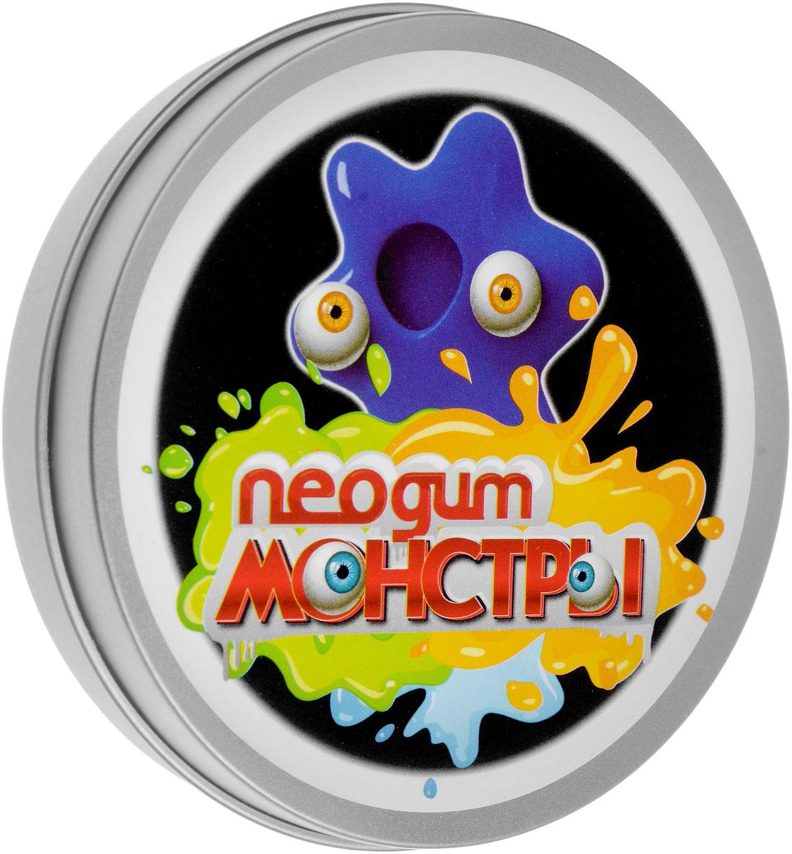 Neogum Жвачка для рук Монстры цвет синийNM0001Жвачка для рук Neogum Монстры, способная принимать любую форму. Не пачкает руки, с легкостью отлипает от кожи и других поверхностей. Изделие внешне напоминает большую жевательную резинку или пластилин. Игрушка отличается невероятной пластичностью, может отпрыгивать от пола и растекаться по ровной поверхности. В комплект входят пластиковые глазки, которые превратят продукт вашей фантазии в милого и совсем нестрашного монстрика синего цвета! Игра с жвачкой для рук помогает снять раздражение и агрессию, развить мелкую моторику и творческое мышление, а также укрепить мышцы кистей. Кроме того, она может стать незаменимым спутником в утомительных переездах и перелетах, эффективно избавляя от чрезмерного беспокойства и нервозности. Жвачка для рук - приятный и полезный подарок для детей и взрослых! Не подвергайте воздействию воды и моющих средств.