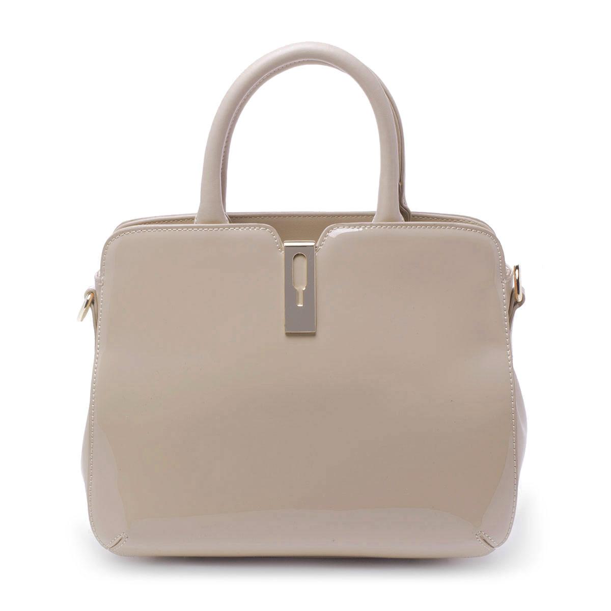 Сумка женская Renee Kler, цвет: бежевый. RK261-04RK261-04Элегантная женская сумка Renee Kler идеально подойдет под ваш образ и завершит его. Она выполнена из качественной лакированной искусственной кожи и закрывается на удобную молнию. Сумка состоит из одного вместительного отделения, которое содержит один вшитый карман на молнии и два накладных открытых кармана для мелочей и телефона. К сумке прилагается съемный плечевой ремень, длина которого регулируется с помощью пряжки. Стильная и практичная сумка станет незаменимым аксессуаром в вашем гардеробе.