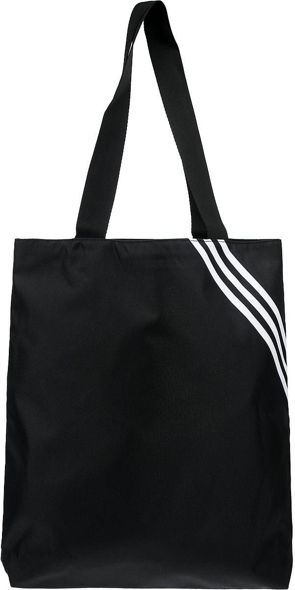 Сумка женская Adidas, цвет: черный. AJ9793AJ9793Практичная женская сумка Adidas серии Shopper 3s  станет незаменимым аксессуаром в повседневной жизни. Сумка оформлена фирменными нашивками. Изделие выполнено из качественного текстиля и полиэстера. Внутри расположено главное отделение и два вместительных кармана на молнии. Сумка дополнена удобными ручками, которые можно надевать на плечо.