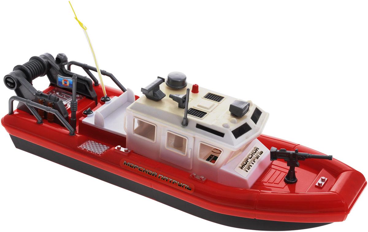 ABtoys Катер на радиоуправлении Морской Патруль цвет красный