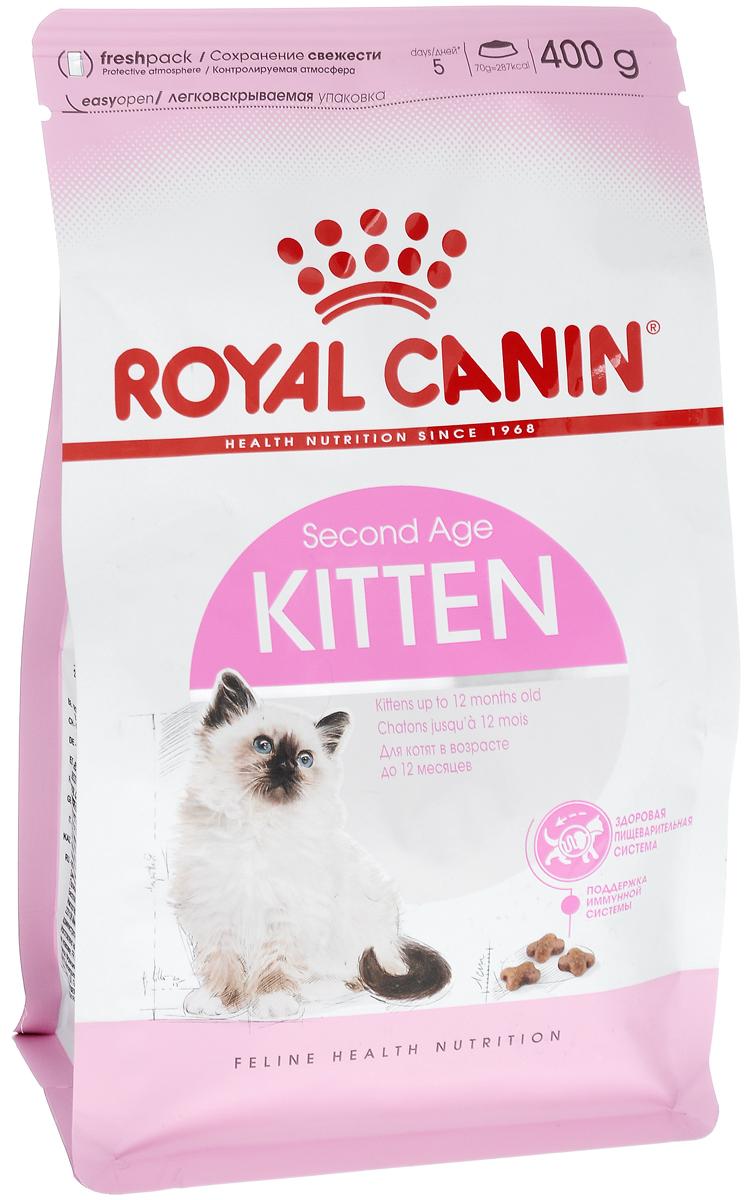 Корм сухой Royal Canin Kitten, для котят в возрасте до 12 месяцев, 400 г2379Сухой корм Royal Canin Kitten - полнорационный корм для котят до 12 месяцев. Здоровье пищеварительной системы. В течение периода роста пищеварительная система котенка остается несовершенной и продолжает постепенно развиваться в течение еще нескольких недель. Уникальная комбинация питательных веществ помогает поддерживать здоровое пищеварение котенка и нормализует стул. Легкоусвояемые белки (L.I.P.), адаптированное содержание клетчатки (в том числе подорожника и пребиотиков) способствует балансу кишечной микрофлоры. Естественная защита. Комплекс антиоксидантов и пребиотики, содержащиеся в продукте KITTEN, поддерживают естественные защитные силы котенка. Гармоничный рост. Сбалансированное содержание легкоусвояемых белков (L.I.P.), витаминов и минеральных веществ в продукте KITTEN способствует росту котенка, а также удовлетворяет его энергетические потребности в период интенсивного роста. LIP. Благодаря высокоусвояемым белкам L.I.P. (90%...