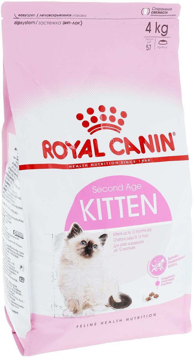 Корм сухой Royal Canin Kitten, для котят в возрасте до 12 месяцев, 4 кг535040Сухой корм Royal Canin Kitten - полнорационный корм для котят до 12 месяцев. Здоровье пищеварительной системы. В течение периода роста пищеварительная система котенка остается несовершенной и продолжает постепенно развиваться в течение еще нескольких недель. Уникальная комбинация питательных веществ помогает поддерживать здоровое пищеварение котенка и нормализует стул. Легкоусвояемые белки (L.I.P.), адаптированное содержание клетчатки (в том числе подорожника и пребиотиков) способствует балансу кишечной микрофлоры. Естественная защита. Комплекс антиоксидантов и пребиотики, содержащиеся в продукте KITTEN, поддерживают естественные защитные силы котенка. Гармоничный рост. Сбалансированное содержание легкоусвояемых белков (L.I.P.), витаминов и минеральных веществ в продукте KITTEN способствует росту котенка, а также удовлетворяет его энергетические потребности в период интенсивного роста. LIP. Благодаря высокоусвояемым белкам L.I.P. (90%...
