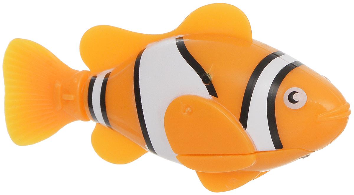 Bradex Рыбка-робот Funny Fish цвет оранжевыйDE 0074Рыбка-робот Bradex Funny Fish плавает также шустро, как и обычная рыба, однако, в отличие от обладателей жабр, не требует корма и не загрязняет аквариум. Ваши дети будут в восторге от этой игрушки. Чудо-рыбка работает от батареек и начинает махать плавником сразу после того, как попадает в воду. Вставьте в рыбку 2 батарейки и она начинает плавать от контакта с водой. В набор входят: рыбка-робот, 4 батарейки (2 батарейки уже вставлены и 2 запасные). Рекомендуется докупить 2 батарейки типа LR44 (товар комплектуется демонстрационными).