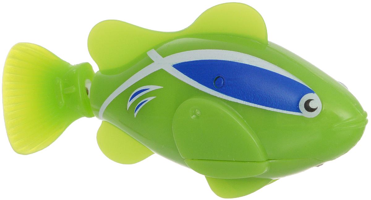 Bradex Рыбка-робот Funny Fish цвет зеленыйDE 0072Рыбка-робот Bradex Funny Fish плавает также шустро, как и обычная рыба, однако, в отличие от обладателей жабр, не требует корма и не загрязняет аквариум. Ваши дети будут в восторге от этой игрушки. Чудо-рыбка работает от батареек и начинает махать плавником сразу после того, как попадает в воду. Вставьте в рыбку 2 батарейки и она начинает плавать от контакта с водой. В набор входят: рыбка-робот, 4 батарейки (2 батарейки уже вставлены и 2 запасные). Рекомендуется докупить 2 батарейки типа LR44 (товар комплектуется демонстрационными).