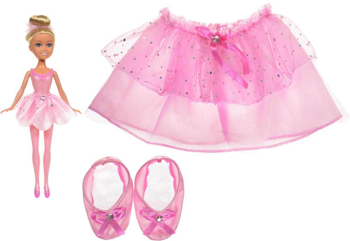 ABtoys Кукла Балерина с карнавальным костюмом для девочки7550098_розовыйЭтот замечательный набор содержит в себе не только прелестную куколку ABtoys Балерину, но и прекрасный карнавальный костюм для вашей девочки! Теперь ваша малышка сможет одеться также, как и ее маленькая подружка, и почувствовать себя настоящей балериной. Куколка выполнена из качественных и безопасных материалов. Ее ручки, ножки и голова подвижны, а волосы можно расчесывать. Костюм состоит из пышной юбочки розового цвета и туфель. Обувь предназначена для игры только в помещении.