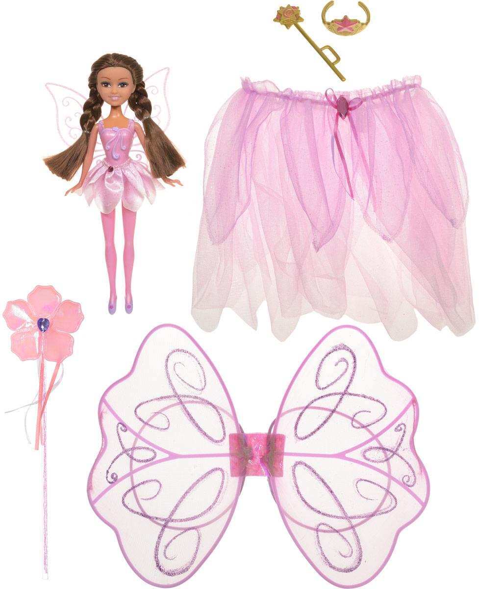 ABtoys Кукла Фея Пион с карнавальным костюмом для девочки7550198_розовыйЭтот замечательный набор содержит в себе не только прелестную куколку ABtoys Фея Пион, но и прекрасный карнавальный костюм для вашей девочки! Теперь ваша малышка сможет одеться также, как и ее маленькая подружка, и почувствовать себя настоящей феей. Куколка выполнена из качественных и безопасных материалов. Ее ручки, ножки и голова подвижны, а из волос создавать различные прически. Костюм состоит из пышной блестящей юбочки, крыльев и волшебной палочки.