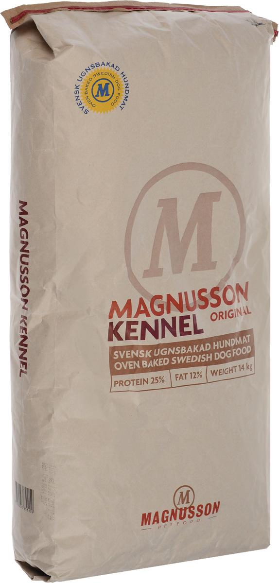 Корм сухой Magnusson Kennel для взрослых собак с нормальным уровнем активности, 14 кг7350033851159Корм Magnusson Kennel производится из сушеного мяса с добавлением пивных дрожжей. Пивные дрожжи, входящие в состав корма, являются источником антиоксидантов, аминокислот и почти полной группы витаминов В. Обе добавки способствуют улучшению состояния кожи и шерсти вашего питомца, а так же нормализуют работу ЦНС и помогают быстрее восстановить силы после тренировки или прогулки. Вяляние (медленная сушка) мяса – самый естественный способ сохранить его до процесса запекания, не используя консервант и глубокую заморозку, чтобы сохранить качество белка на самом высоком уровне. Корм можно давать как в сухом, так и в размоченном виде. Не стоит заливать корм бульоном или молоком, лучше всего использовать воду. Определите количество корма, которое вы хотите дать вашей собаке. Добавьте в миску теплую воду так, чтобы она покрывала корм. Перемешайте и оставьте на 10 минут. Не забывайте, что ваша собака всегда должна иметь свободный доступ к чистой питьевой воде. Количество корма...