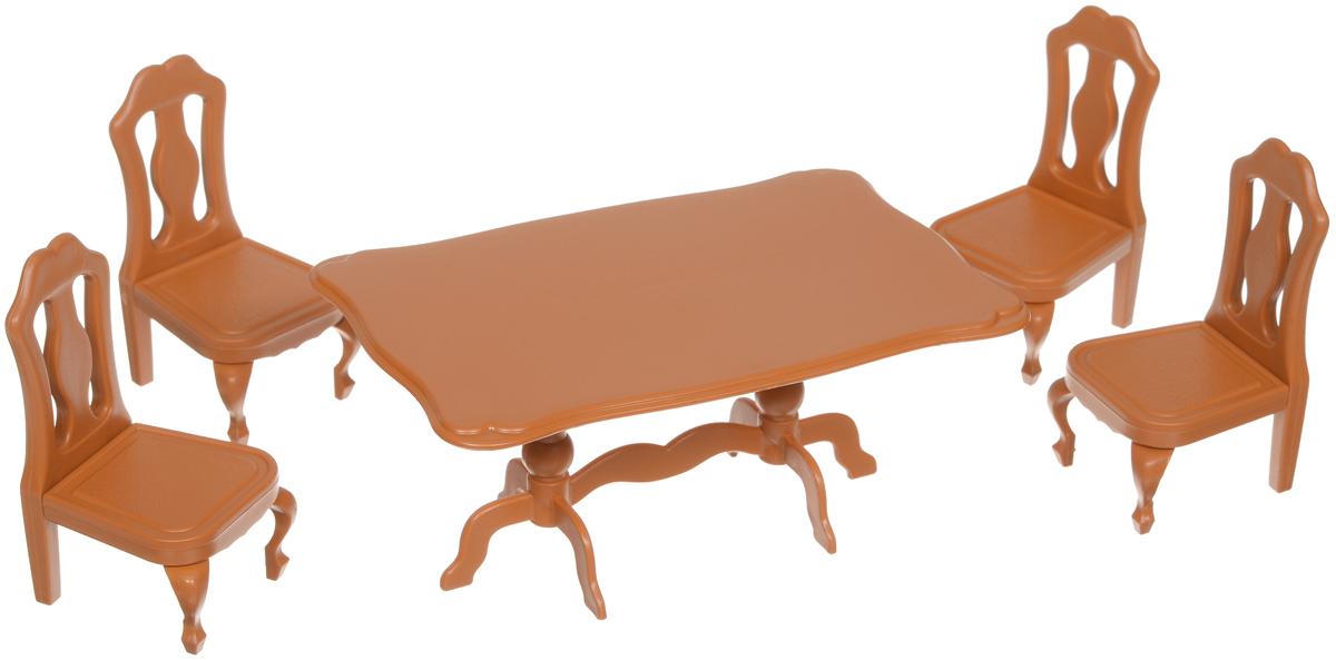 ABtoys Набор мебели для столовойPT-00302Если ваш ребёнок уже является счастливым обладателем фигурок из серии Счастливые друзья, то ему не обойтись без мебели для них. Ведь благодаря этому набору мебели кроха сможет разыграть семейный обед, в котором участвуют все члены семьи. Ребенок может расположить маленькие фигурки на удобных стульчиках за большим обеденным столом. В комплекте 4 стула и обеденный стол. Фигурки животных не предусмотрены в наборе, приобретаются дополнительно. Предметы мебели изготовлены из нетоксичного пластика высокого качества, который устойчив к ударам и деформациям. Составляющие комплекта окрашены стойкими безопасными для детей красителями, которые не истираются с поверхности долгое время. Игра с таким набором развивает мелкую моторику, воображение и навыки визуализации. Набор мебели поможет разнообразить игровой сюжет с фигурками животных из серии Счастливые друзья.