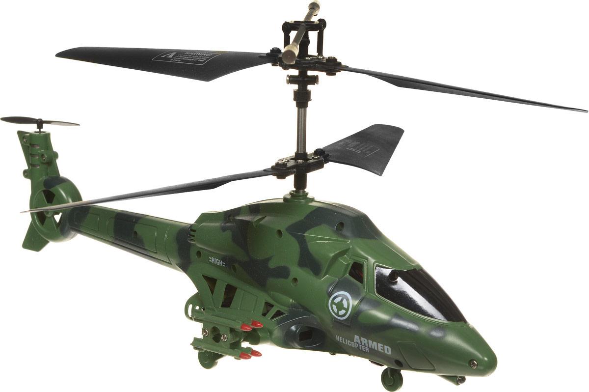 ABtoys Вертолет на инфракрасном управлении Armed цвет зеленый темно-синийC-00101_зеленый, черныйВертолет ABtoys Armed на инфракрасном управлении со встроенным гироскопом и 3,5-канальной системой управления. Гироскоп предназначен для курсовой стабилизации полета. Игрушка выполнена из прочного пластика с металлическими элементами. Вертолет стабилен в воздухе и легко управляется. Пульт управления позволяет вертолету двигаться вверх-вниз, вперед-назад, влево-вправо, вращаться на 360 градусов и зависать в воздухе. Вертолет обладает световыми эффектами и стреляет ракетами (входят в комплект). Радиус действия пульта управления составляет 8 метров. Эта увлекательная игрушка понравится не только детям, но и взрослым, и подарит вам множество счастливых мгновений. Игрушка способствует развитию тактильных навыков, зрительной координации, мелкой моторики рук и воображения. Вертолет работает от встроенного аккумулятора. Зарядка аккумулятора может производиться как от пульта управления, так и при помощи USB кабеля (входит в комплект). Пульт...