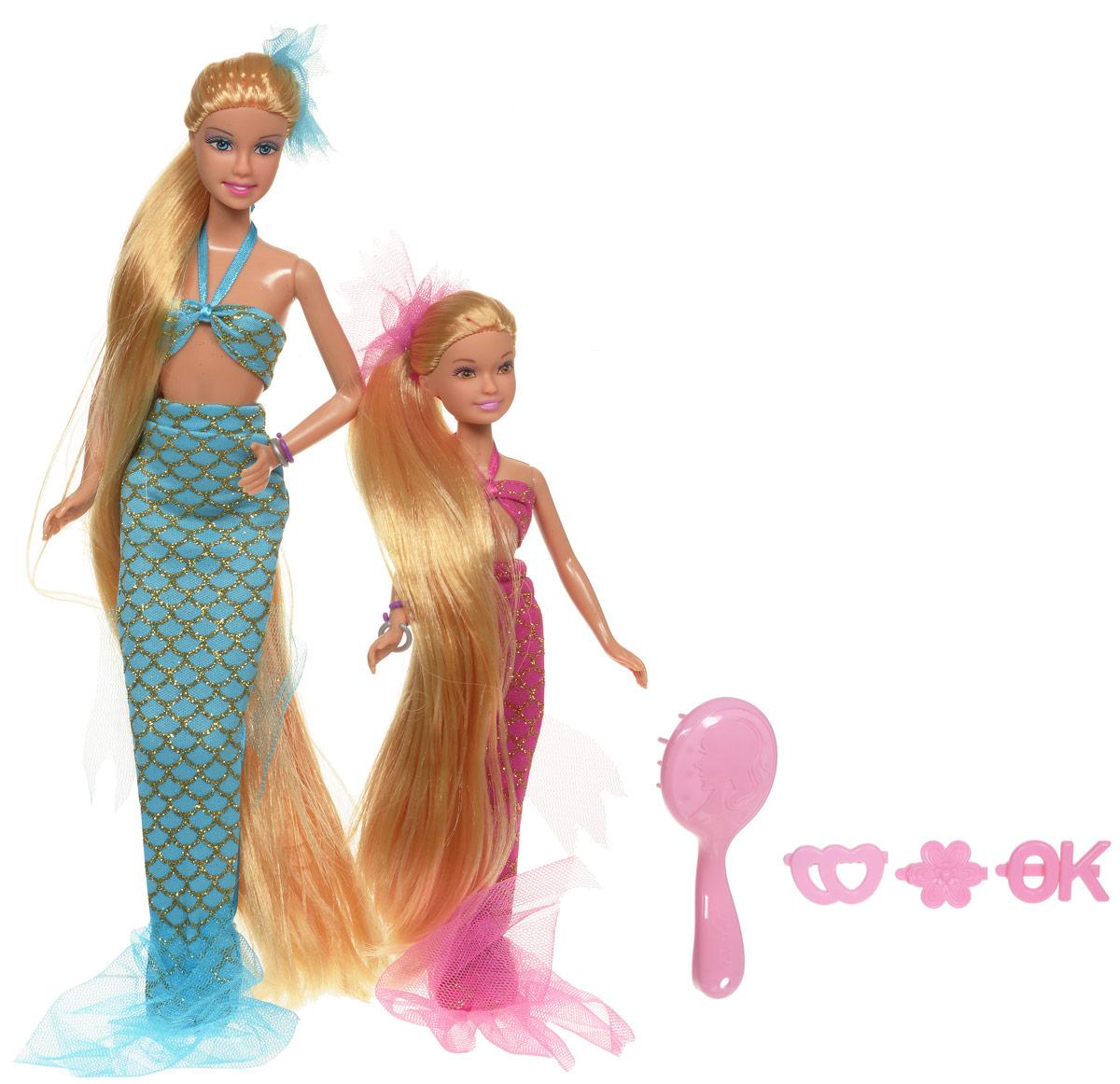 Defa Набор кукол Lucy Русалки-сестры цвет голубой розовый 2 шт8235d_голубой, розовыйНабор кукол Defa Русалки-сестры станет любимой игрушкой вашей дочурки. Набор состоит из двух кукол-русалочек в блестящих нарядах. В набор также входят три заколочки и расческа. У кукол длинные светлые волосы, которые ваша малышка с удовольствием будет расчесывать и заплетать из них различные прически. Куклы изготовлены из безопасного и прочного материала. Благодаря играм с куклой, ваша малышка сможет развить фантазию и любознательность, овладеть навыками общения и научиться ответственности. Ваш ребенок будет в восторге от такого подарка!