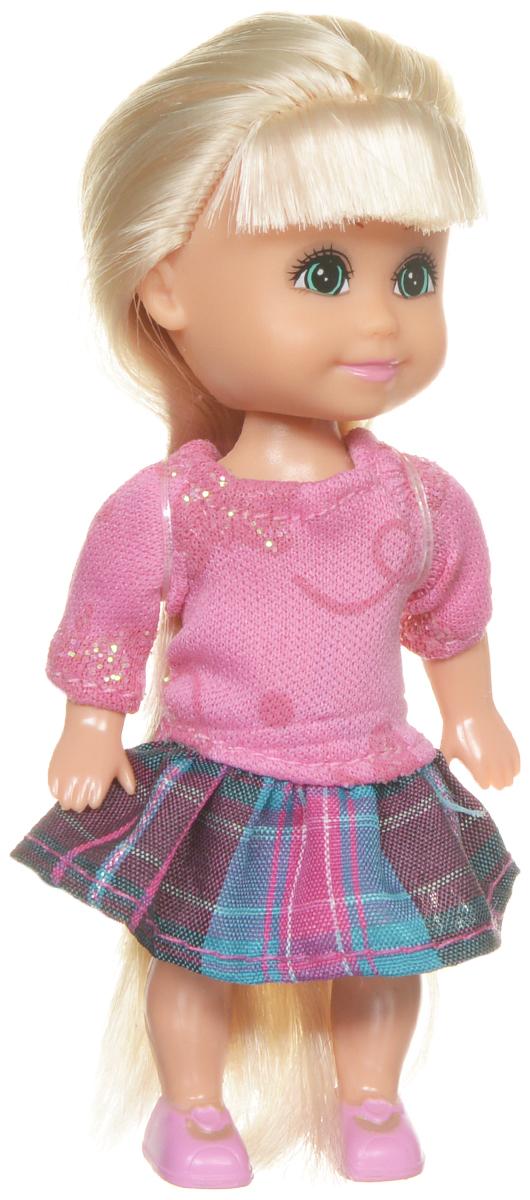 Funville Мини-кукла Sparkle Girlz цвет наряда розовый бирюзовый сиреневый24061_розовыйМини-кукла Funville Sparkle Girlz - это трогательная красавица с выразительными зелеными глазками и длинными светлыми волосами. Куколка одета в розовую кофточку и клетчатую юбочку. Кукла имеет пять точек артикуляции, благодаря чему ей можно придавать различные позы. Длинные волосы куклы можно расчесывать и заплетать из них различные прически. Очаровательная куколка поднимет настроение своей обладательнице и станет ее лучшей подружкой. Игры с куклами развивают творческое мышление и воображение, а также способствуют эмоциональному развитию и формированию ответственности.