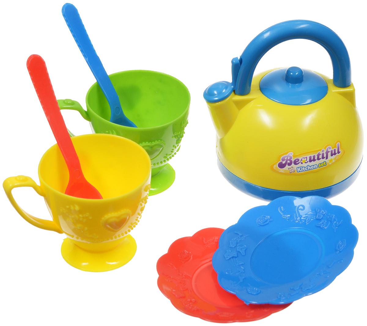ABtoys Игрушечный кухонный набор 7 предметовPT-00203стИгрушечный кухонный набор ABtoys прекрасно подойдет ребенку для веселых игр. Предметы набора выполнены из качественного и безопасного пластика. Набор рассчитан на две персоны. В состав набора входят две тарелки, две ложки, две чашки и чайник. Без этого набора просто невозможно устроить чаепитие вместе с любимой куклой и не пригласить на чай косолапого мишку. Любая юная хозяйка будет рада постигать искусство приема гостей и осваивать навыки кулинарии.