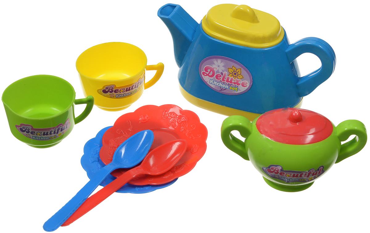 ABtoys Кухонный набор Помогаю маме цвет чайника синий 8 предметов