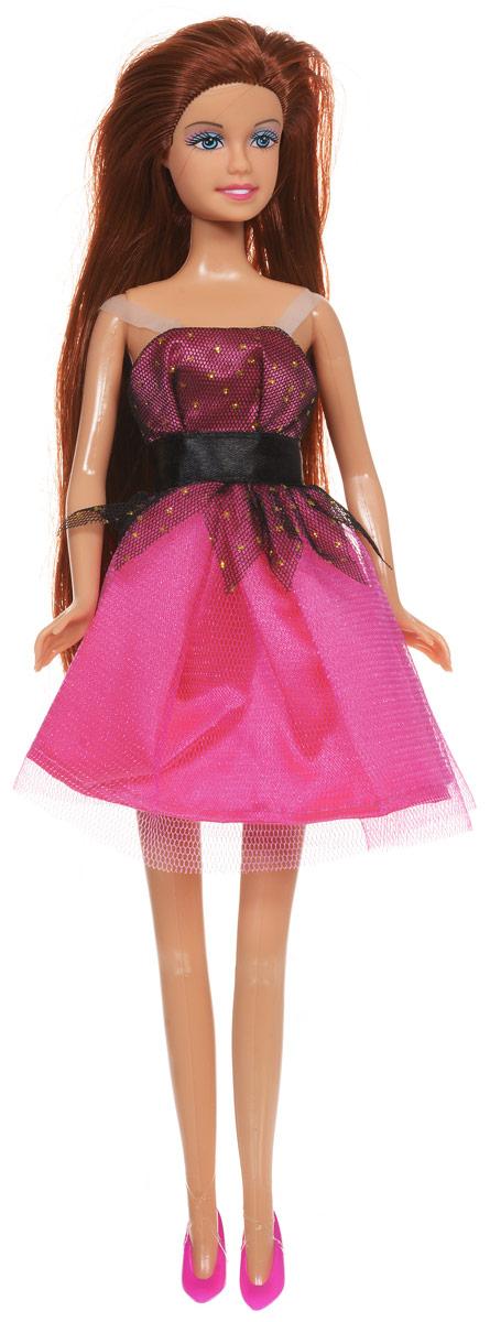 Defa Кукла Lucy цвет платья розовый черный8136d_розовое платьеКукла Defa Lucy обязательно понравится любой девочке и позволит ей погрузиться в сказочный мир волшебства. Очаровательная куколка одета в короткое розовое платье с сетчатой верхней юбкой и черным атласным поясом. На ногах у Люси - розовые туфельки на каблуках. Вашей дочурке непременно понравится расчесывать и заплетать длинные волосы куклы. Руки, ноги и голова куклы подвижны, благодаря чему ей можно придавать различные позы. Благодаря играм с куклой ваша малышка сможет развить фантазию и любознательность, овладеть навыками общения и научиться ответственности.
