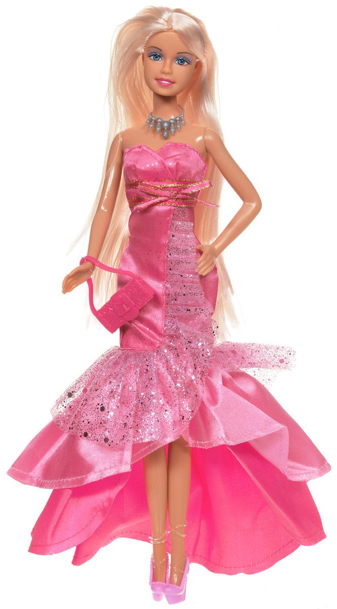 Defa Кукла Lucy в вечернем платье цвет розовый8240d_розовыйКукла Defa Lucy обязательно понравится любой девочке и позволит ей погрузиться в сказочный мир волшебства. Очаровательная куколка одета в шикарное вечернее платье с оборками и подолом разной длины. На ногах у Люси - розовые туфельки на каблуках. Дополняют нарядный образ оригинальное колье и ярко-розовая сумочка. Вашей дочурке непременно понравится расчесывать и заплетать длинные светлые волосы куклы. Руки, ноги и голова куклы подвижны, благодаря чему ей можно придавать различные позы. Благодаря играм с куклой ваша малышка сможет развить фантазию и любознательность, овладеть навыками общения и научиться ответственности.