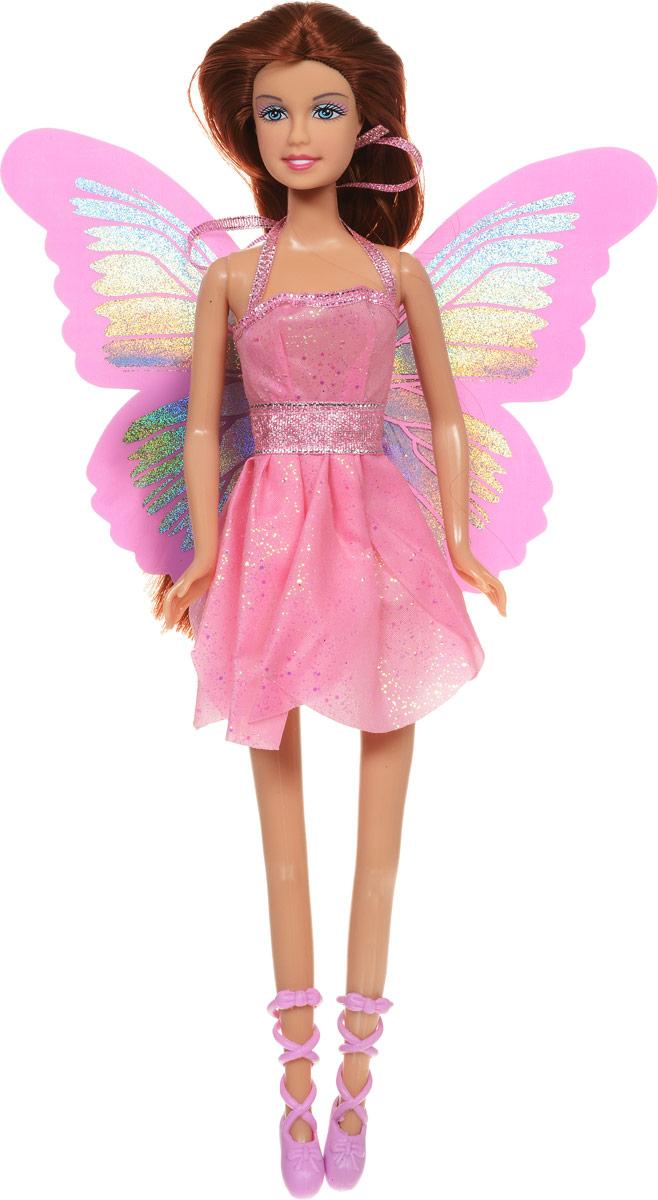 Defa Кукла Butterfly Fairy цвет платья розовый8135dВеликолепная кукла Defa Butterfly Fairy обязательно понравится любой девочке и позволит ей погрузиться в сказочный мир волшебства. Очаровательная куколка одета в короткое розовое платье с блестками и юбкой в виде лепестков. Сзади к платью пришиты блестящие розовые крылышки. На ногах у куклы - розовые туфельки с ремешками. Вашей дочурке непременно понравится расчесывать и заплетать длинные волосы куклы. Руки, ноги и голова куклы подвижны, благодаря чему ей можно придавать различные позы. Благодаря играм с куклой ваша малышка сможет развить фантазию и любознательность, овладеть навыками общения и научиться ответственности.