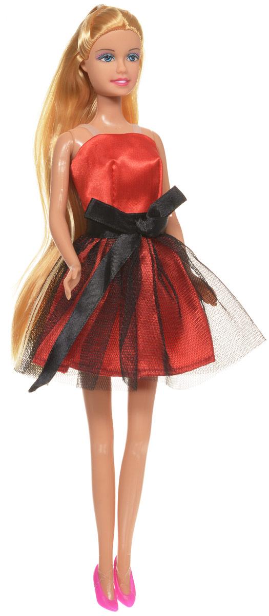 Defa Кукла Lucy цвет платья красный черный8136dКукла Defa Lucy обязательно понравится любой девочке и позволит ей погрузиться в сказочный мир волшебства. Очаровательная куколка одета в короткое красное платье с сетчатой верхней юбкой и черным атласным поясом. На ногах у Люси - розовые туфельки на каблуках. Вашей дочурке непременно понравится расчесывать и заплетать длинные белокурые волосы куклы. Руки, ноги и голова куклы подвижны, благодаря чему ей можно придавать различные позы. Благодаря играм с куклой ваша малышка сможет развить фантазию и любознательность, овладеть навыками общения и научиться ответственности.