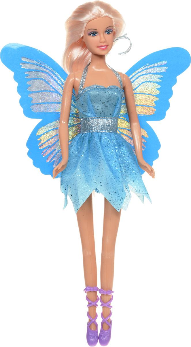 Defa Кукла Butterfly Fairy Бабочка цвет платья голубой8135d_голубойВеликолепная кукла Defa Butterfly Fairy обязательно понравится любой девочке и позволит ей погрузиться в сказочный мир волшебства. Очаровательная куколка одета в короткое голубое платье с блестками и юбкой в виде лепестков. Сзади к платью пришиты блестящие голубые крылышки. На ногах у куклы - фиолетовые туфельки с ремешками. Вашей дочурке непременно понравится расчесывать и заплетать длинные волосы куклы. Руки, ноги и голова куклы подвижны, благодаря чему ей можно придавать различные позы. Благодаря играм с куклой ваша малышка сможет развить фантазию и любознательность, овладеть навыками общения и научиться ответственности.
