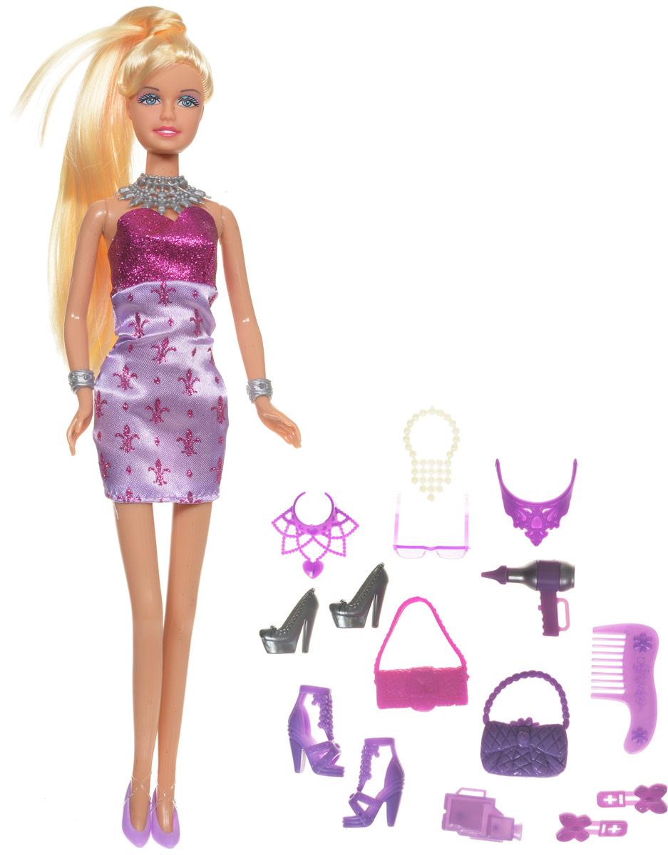 Defa Кукла Lucy Модница цвет сиреневый розовый8233d_сиреневый, розовыйКукла Defa Lucy Модница любит устраивать вечеринки и красиво наряжаться. В набор с куклой входит большое количество различных стильных аксессуаров - ожерелья, обувь, сумочки, солнечные очки, фен, расческа и заколочки. Играя с такой куклой, ваша девочка воспитает в себе только самые положительные качества. Кукла изготовлена из качественных материалов, у нее светлые длинные волосы, которые можно расчесывать и создавать множество стильных причесок. Порадуйте свою дочурку таким замечательным подарком!