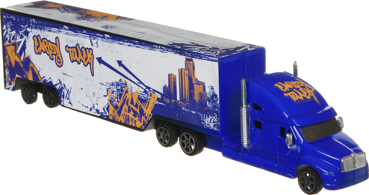 Junfa Toys Грузовик инерционный Road Big цвет синий белый1066_синий, белыйИнерционный грузовик Junfa Toys Road Big обязательно привлечет внимание вашего ребенка. Игрушка выполнена из прочного пластика в виде мощного грузовика с прицепом. Колеса машинки свободно вращаются. Машина оснащена инерционным механизмом. Достаточно немного подтолкнуть машинку вперед или назад, а затем отпустить, и она сама поедет в ту же сторону. Малыш проведет с этой игрушкой много увлекательных часов, разыгрывая различные ситуации. Ваш ребенок будет в восторге от такого подарка!