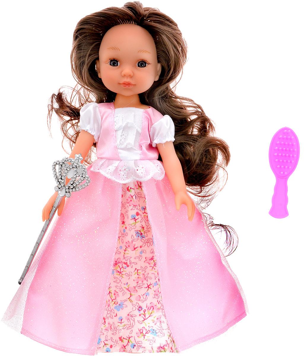 ABtoys Кукла Модница цвет платья розовыйPT-00370Кукла ABtoys Модница может стать хорошим подарком для маленькой девочки. Одета кукла в красивое длинное платье, на ногах у нее - розовые туфельки. У куклы волосы достаточно длинные, поэтому ребенок сможет придумать для нее много вариантов причесок, а наличие в наборе аксессуаров поможет значительно расширить игровые возможности девочки с этой красавицей. Руки, ноги и голова у куклы подвижны, что позволит ей придавать различные позы, а материалы, из которых изготовлена эта игрушка, безопасны для здоровья.