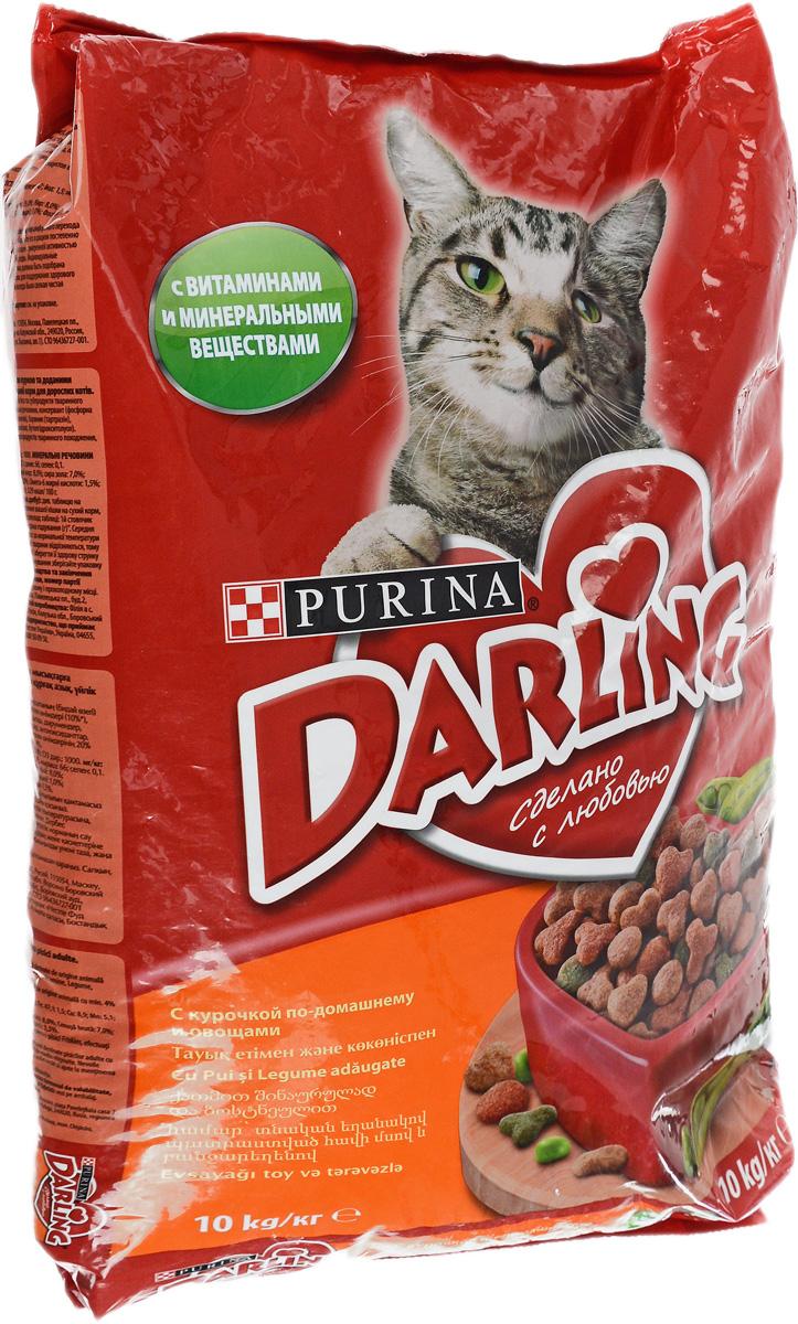 "Корм сухой ""Darling"" для кошек, с птицей и овощами, 10 кг ( 12048258 )"