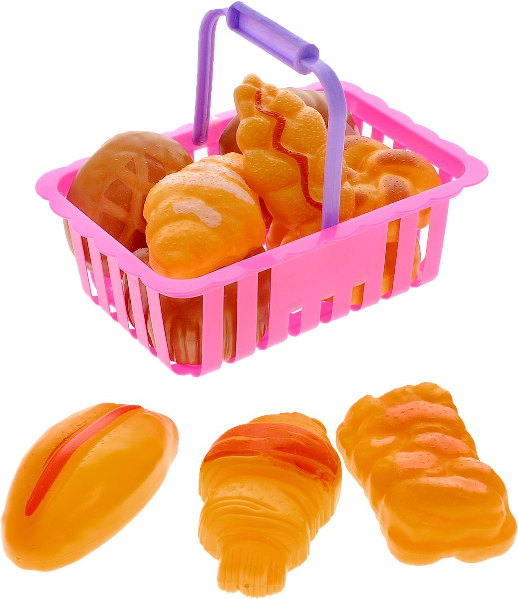 ABtoys Набор продуктов в корзине 12 предметовPT-00369Игровой набор продуктов в корзине ABtoys из серии Помогаю маме состоит из 11 хлебобулочных изделия и корзинки. Собираясь на пикник со своими любимыми куклами, юная хозяюшка возьмёт с собой множество вкусных булочек с сахарной пудрой, джемом и румяной корочкой. Такой набор обязательно понравится любому ребенку и сделает игру более интересной.