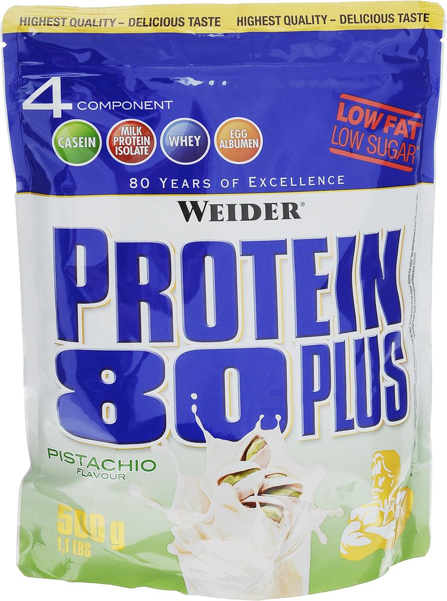 """Протеин Weider """"Protein 80 Plus"""", фисташки, 500 г"""