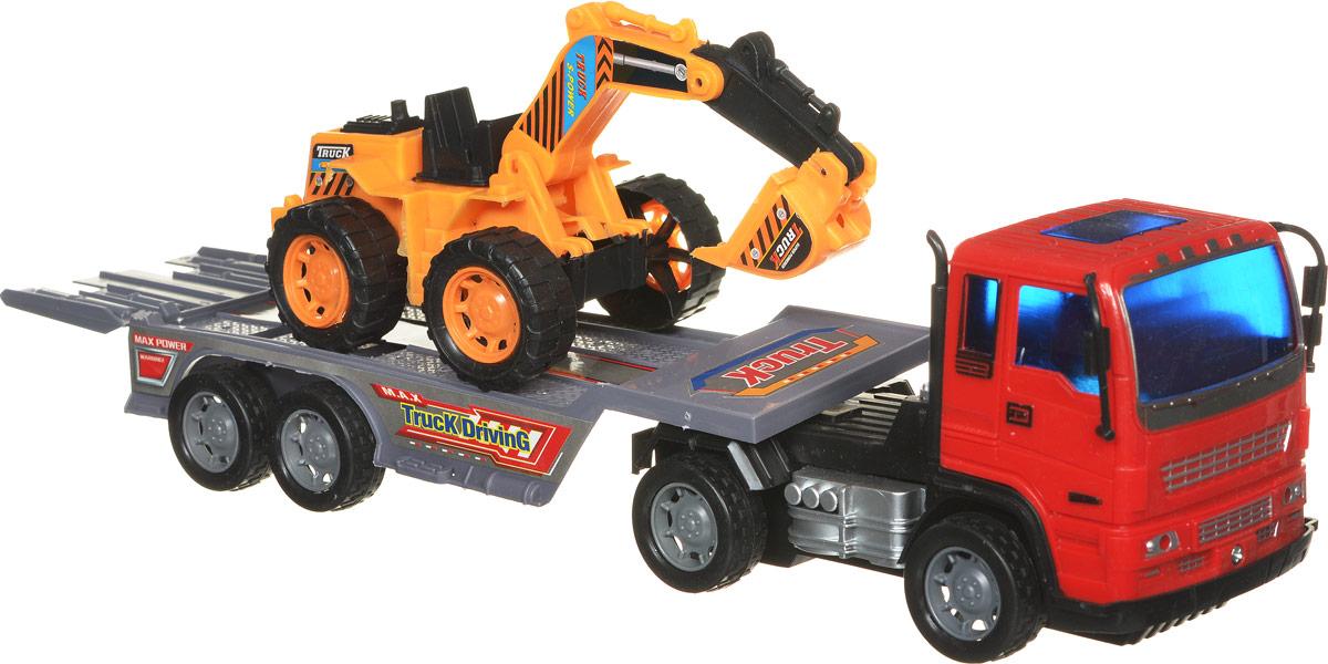 Junfa Toys Автовоз инерционный с экскаватором Excellent Transport Car ( 8268-2 )
