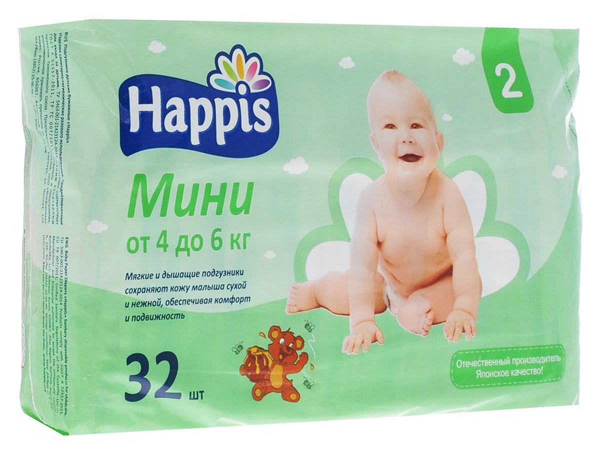 Happis Подгузники Мини 4-6 кг 32 шт