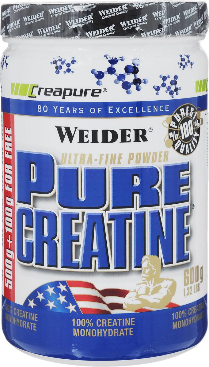 Креатин Weider Pure Creatine, 600 г31711Креатин Weider Pure Creatine - необходимый элемент для превращения энергии в организме. Употребление 3 г креатина в порции в день повышает физическую работоспособность во время кратковременных высокоинтенсивных повторяющихся физических нагрузок. Это жизненно необходимое вещество содержится в мышечных клетках в форме креатинфосфата. Усиленная мышечная работа, требующая максимального освобождения энергии, сопровождается повышенным расходованием креатинфосфата как важнейшего энергетического источника мышечной системы, вследствие чего потребность организма в креатине при физических нагрузках значительно повышается. Помимо увеличения выносливости на тренировках креатин способствует увеличению объема мускулатуры. Способ применения: Принимайте 1 порцию в день. Рекомендуется принимать 6 недель, затем сделать перерыв на 2-4 недели. Приготовление: Размешать 3,4 г порошка (1 мерную ложку) в воде. Состав: 100% моногидрат...