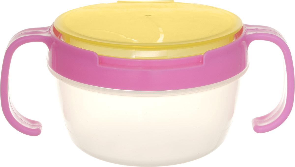 Bradex Контейнер для еды детский Поймай печенье цвет розовый