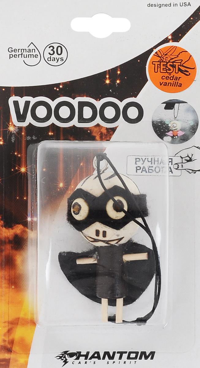 Ароматизатор Phantom Voodoo, белый кедр. PH3612PH3612_черныйОригинальный ароматизатор ручной работы Phantom Voodoo выполнен в виде тыквы из шерсти. Он эффективно нейтрализует посторонние запахи и наполняет воздух приятными ароматом. Подвесьте ароматизатор за петлю в любом удобном месте - в салоне автомобиля, дома или в офисе - и получайте удовольствие! Стойкий аромат до 30 дней. Размер ароматизатора: 6 x 6 x 4,5 см. Состав ароматизатора: дерево, ароматическая отдушка.